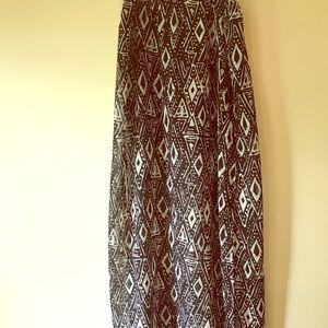 Black&White Pattern Skirt
